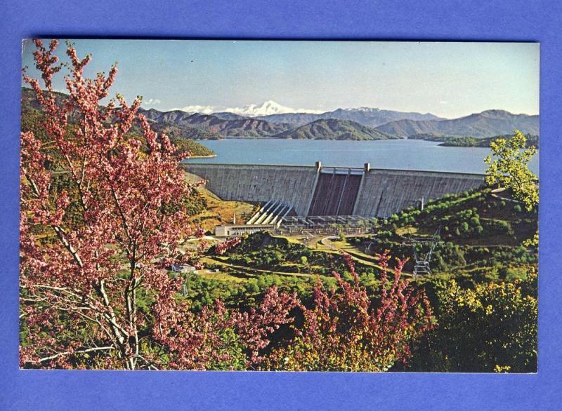 Shasta Dam,Lake & Mount Shasta Postcard, California/CA
