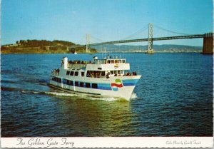 Golden Gate Ferry CA California Sausalito to San Francisco Unused Postcard C1