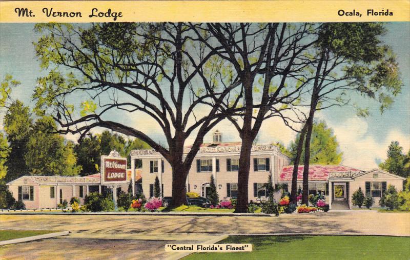 Mount Vernon Lodge , OCALA , Florida , PU-1948