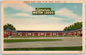 McRae, Georgia Postcard CAMERON MOTOR LODGE Route 341 Roadside Linen 1950s