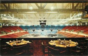 Providence Rhode Island~Civic Center Interior~Box Seats~1960s Postcard