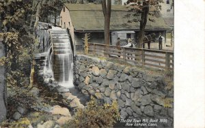 The Old Town Mill, Built 1650, New London, CT c1910s Vintage Postcard
