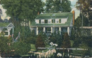 Saratoga Springs NY New York Gardens at Chauncey Olcott's Cottage - pm 1913 - DB