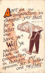 Comic~No Compunction to Change Shirt for Better? Needn't Change Opinion Neither