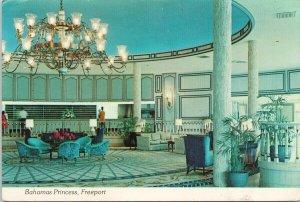 Bahamas Princess Hotel Freeport Grand Bahamas Main Lobby Postcard C4