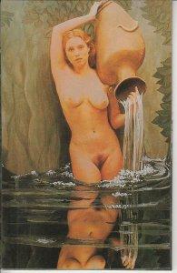 Greetings card edition F. Nugeron Paris designed by P. Calia erotique fantaisie