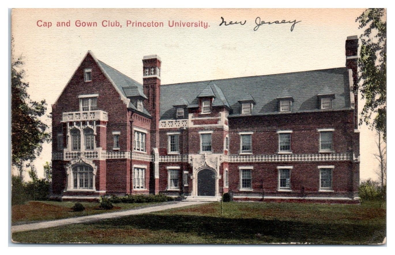 1939 Cap and Gown Club, Princeton University, NJ Hand-Colored ...