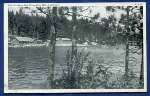 Lake Gregory San Bernardino Mountains California ca old postcard #2