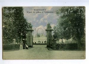 206532 POLAND WARSZAWA Wilanowie palace Vintage postcard