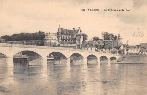 BF5100 amboise le chateau et le pont france      France