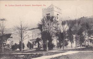 SMETHPORT, Pennsylvania, 1900-1910's; St. Lukes Church At Sunset