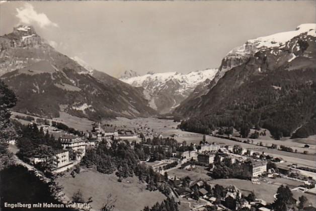 Switzerland Engelberg mit Hanen und Titlis 1957 Photo