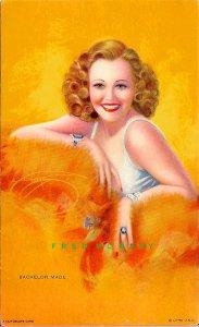 C-1940 Mutoscope DeVorss All-American Girls Arcade Card: Bachelor Made Rare