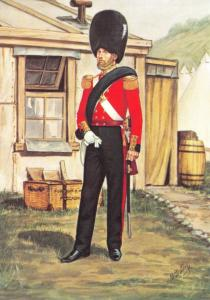 Military Art Postcard The Grenadier Guards, Officer 1854 #8-3