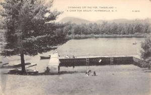 Pottersville New York Timberland Pier Swimming Antique Postcard K84870