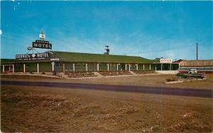West Glendive Montana~Derrick Motel Across the Street~1950s PC