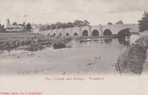 The Church & Bridge Wansford Northampton 1904 Postcard