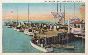 ATLANTIC CITY, New Jersey, 1900-1910s; View Of Pier At Inlet