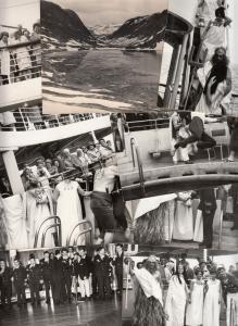 Lot 12 pcs social history norwegian cruiser ship tourists entertainment photo pc