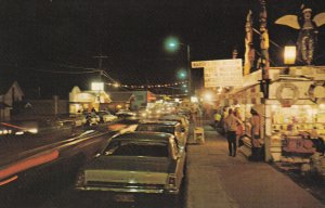LONG BEACH , Washington, 1950-1960's; Main Street at night