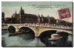 Postcard Old Paris La Conciergerie and Pont au Change Charter Chocolat Menier