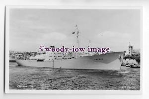 cb0322 - Swedish Johnson Line Cargo Ship - Canada , built 1953 - postcard