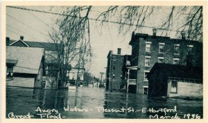 CT - Hartford. Great Flood, March 1936. Pleasant Street, E. Hartford