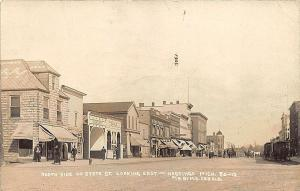 Hastings MI Street View Theatorium Temple Horse Wagon Store Fronts RPPC Postcard