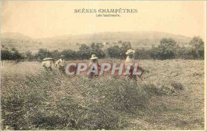 Modern Postcard Scenes Champetes Reapers