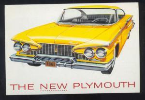 1961 PLYMOUTH CAR DEALER ADVERTISING POSTCARD '61 MOPAR OLD CARS