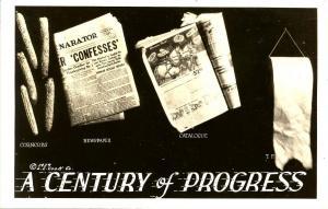 Comic - A Century of Progress - Evolution of Toilet Tissue - RPPC