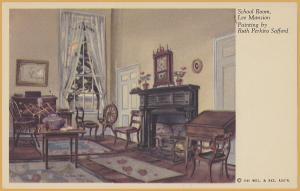 Mt. Vernon, VA., School Room, Lee Mansion, by Ruth Perkins Safford-c1940