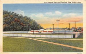 F36/ New Boston Ohio Postcard 1950 Portsmouth Area Municipal Stadium