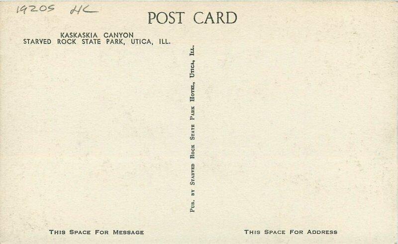Albertype Kaskaskia Canyon Starved Rock Park Utica Illinois 1920s Postcard 9931