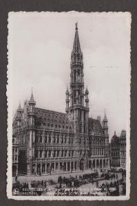 City Hall & Groote Market, Brussels, Belgium - Real Photo - Used 1937