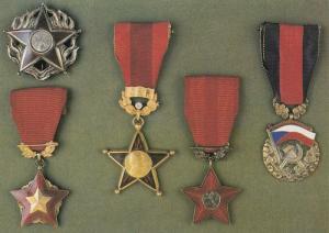 Sovetska Armada War Medals Czeckslovakia General Cenek Hruska Postcard