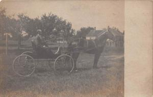 Man in horse and buggy, RPC