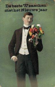 Vintage Classy Men Kids Flowers Portrait and more Postcard Lot of 8 01.18