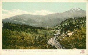 Colorado C-1905 Railroad Timber Pikes Peak Postcard Detroit Photographic 11059