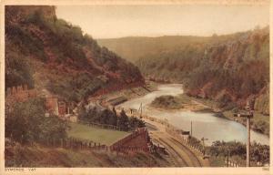 Symonds Yat England~Wye Valley Village~Railroad & River View~c1908 Postcarde