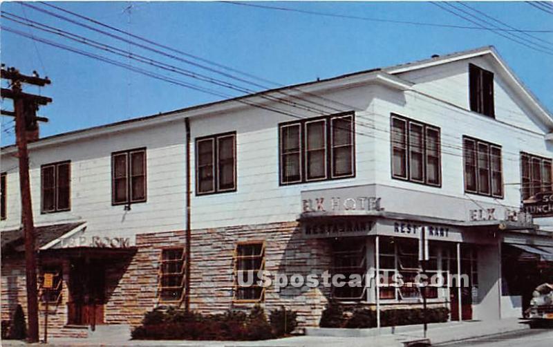 Original Elk Hotel Restaurant Port Jefferson L I Ny Unused