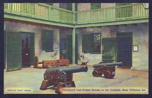 Cabildo Prison Rooms & Cannon New Orleans LA unused c1941