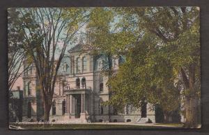 View Of The Parliament Building - Frederickton NB - Used 1907 - Corner Wear