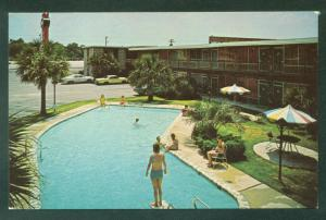 Hornes Motor Lodge Florence South Carolina SC Swimming Pool Hotel Postcard
