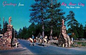 California Big Bear Lake Greetings From Big Bear City