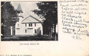 Hebron Maine~The Church~No Shoes to Black Yet~Saturday Coming~1906 Postcard