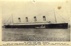 White Star Olympic Ship Postcard Post Card Sister Ship of the Titanic Ship