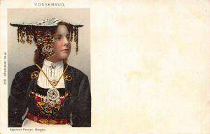 Norway Vossebrud Sostrene Persen Bergen Traditional Costumes Postcard
