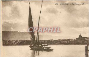 Old Postcard GENEVA-The Port LL Boat
