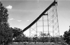 Norge Ski Slide, Real Photo Fox River Grove, Illinois, IL, USA Unused